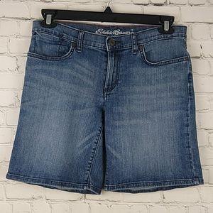 Eddie Bauer Boyfriend Denim Blue Jean Shorts 6